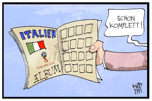 Cartoon: WM ohne Italien (medium) by Kostas Koufogiorgos tagged karikatur,koufogiorgos,illustration,cartoon,wm,russland,2018,italien,panini,album,sammelalbum,fussball,fifa,sport,inhaltsleer,karikatur,koufogiorgos,illustration,cartoon,wm,russland,2018,italien,panini,album,sammelalbum,fussball,fifa,sport,inhaltsleer