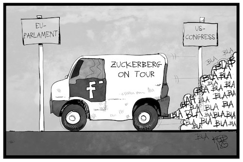 Cartoon: Zuckerberg on Tour (medium) by Kostas Koufogiorgos tagged karikatur,koufogiorgos,illustration,cartoon,zuckerberg,tour,eu,usa,parlament,congress,cambridge,analytica,social,media,datenschutz,user,verbraucher,karikatur,koufogiorgos,illustration,cartoon,zuckerberg,tour,eu,usa,parlament,congress,cambridge,analytica,social,media,datenschutz,user,verbraucher
