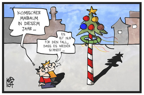 Zum 1. Mai von Kostas Koufogiorgos | Natur Cartoon | TOONPOOL