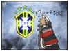 Cartoon: 7 Gegentore (small) by Kostas Koufogiorgos tagged karikatur,koufogiorgos,illustration,cartoon,brasilien,deutschland,fussball,wm,celacao,tor,sport,weltmeisterschaft