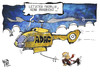 Cartoon: ADAC-Skandal (small) by Kostas Koufogiorgos tagged karikatur,illustration,cartoon,koufogiorgos,adac,meyer,hubschrauber,flug,rücktritt,automobilclub,verein