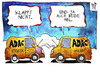 Cartoon: ADAC (small) by Kostas Koufogiorgos tagged illustration,cartoon,karikatur,koufogiorgos,adac,statistik,manipulation,auto,autoclub,image,panne,verkehr,starthilfe