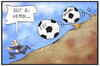 Cartoon: Blatter-Rücktritt (small) by Kostas Koufogiorgos tagged karikatur,koufogiorgos,illustration,cartoon,sepp,blatter,fifa,fussball,fbi,interpol,verfolgung,zeit,flucht,berg,korruption,rücktritt,sport