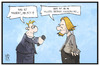 Cartoon: Brangie (small) by Kostas Koufogiorgos tagged karikatur,koufogiorgos,illustration,cartoon,brad,pitt,angelina,jolie,angie,merkel,vertrauen,ehe,scheidung,star,schauspieler,celebrity,hollywood