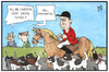 Cartoon: Cameron auf der Jagd (small) by Kostas Koufogiorgos tagged karikatur,koufogiorgos,illustration,cartoon,cameron,grossbritannien,einwanderung,jagd,pferd,hund,flüchtlinge,asyl,politik