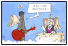 Cartoon: Chuck Berry (small) by Kostas Koufogiorgos tagged karikatur,koufogiorgos,illustration,chuck,berry,musiker,tod,himmel,paradie,beethoven,engel,kultur,legende