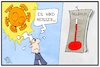 Cartoon: Corona-Fallzahlen (small) by Kostas Koufogiorgos tagged karikatur,koufogiorgos,illustration,cartoon,corona,fallzahlen,sonne,virus,thermometer,pandemie,deutschland,michel,covid19,sarscov2