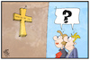 Cartoon: Das Kreuz mit den Bayern (small) by Kostas Koufogiorgos tagged karikatur,koufogiorgos,illustration,cartoon,kreuz,bayern,csu,wahlkampf,religion,religionsfreiheit