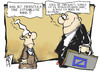 Cartoon: Deutsche Bank (small) by Kostas Koufogiorgos tagged deutsche,bank,michel,manager,geld,systemrelevant,gefahr,kredit,institut,rechnung,karikatur,kostas,koufogiorgos