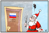 Cartoon: Deutschland-Russland (small) by Kostas Koufogiorgos tagged karikatur,koufogiorgos,illustration,cartoon,russland,deutschland,nikolaus,rute,diplomaten,ausweisung