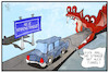 Cartoon: Die neue Seidenstraße (small) by Kostas Koufogiorgos tagged karikatur,koufogiorgos,illustration,cartoon,seidenstrasse,china,drache,tunnel,transit,verkehr,wirtschaft,handel,weg,route