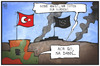 Cartoon: Die Türkei und der IS (small) by Kostas Koufogiorgos tagged karikatur,koufogiorgos,illustration,cartoon,kobane,türkei,syrien,is,miliz,terrorismus,kalifat,kurden,politik,krieg,konflikt