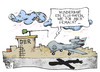 Cartoon: Drohnen-Affäre (small) by Kostas Koufogiorgos tagged drohne,eurohawk,ber,berlin,flughafen,steuern,steuergeld,flugzeug,karikatur,koufogiorgos