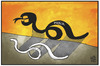 Cartoon: Ebola (small) by Kostas Koufogiorgos tagged karikatur,koufogiorgos,illustration,cartoon,ebola,virus,krankheit,panik,epidemie,schatten