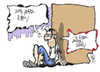 Cartoon: Euro or not ? (small) by Kostas Koufogiorgos tagged euro,greece,drachma,election,economy,koufogiorgos,cartoon
