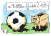 Cartoon: Fußball und Eurozone (small) by Kostas Koufogiorgos tagged fussball,euro,zone,sparschwein,luft,ball,europa,meisterschaft,schulden,krise,karikatur,kostas,koufogiorgos