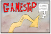 Cartoon: Gamestop (small) by Kostas Koufogiorgos tagged karikatur,koufogiorgos,illustration,cartoon,gamestop,börse,anleger,zocker,aktie,dax,märkte,wirtschaft