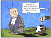 Cartoon: Hoeneß-Urteil (small) by Kostas Koufogiorgos tagged illustration,cartoon,karikatur,koufogiorgos,hoeness,fussball,gefängnis,haft,bayern,sport,häftling