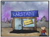 Cartoon: Karstadt (small) by Kostas Koufogiorgos tagged karikatur,koufogiorgos,illustration,cartoon,karstadt,kaufhaus,verkauf,insolvenz,wirtschaft,einzelhandel