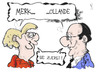 Cartoon: Merkollande (small) by Kostas Koufogiorgos tagged merkollande,merkel,hollande,frankreich,deutschland,präsident,bundeskanzlerin,politik,karikatur,koufogiorgos