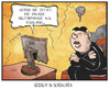 Cartoon: Militärparaden (small) by Kostas Koufogiorgos tagged karikatur,koufogiorgos,illustration,cartoon,nordkorea,russland,kim,jong,un,diktator,parade,militär,fernsehen,neid,eifersucht,show,politik,gedenktag