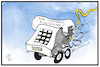 Cartoon: Mobiles Telefonieren (small) by Kostas Koufogiorgos tagged karikatur,koufogiorgos,illustration,cartoon,mobilfunk,telekommunikation,telefon,handy,internet,schnelligkeit,smartphone