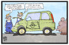 Cartoon: Opel-Software (small) by Kostas Koufogiorgos tagged karikatur,koufogiorgos,illustration,cartoon,opel,manipulation,betrug,abgas,skandal,pokemon,go,emission,abschaltvorrichtung,zafira,auto,dieselgate,wirtschaft,computerspiel,nintendo