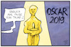 Cartoon: Oscars 2019 (small) by Kostas Koufogiorgos tagged karikatur,koufogiorgos,illustration,cartoon,oscar,preisverleihung,academy,award,usa,trump,show,business,schauspieler,kunst,darsteller