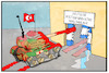 Cartoon: Rüstungsindustrie (small) by Kostas Koufogiorgos tagged karikatur,koufogiorgos,illustration,cartoon,panzer,leopard,rheinmetall,rüstung,industrie,wirtschaft,waschanlage,blut,krieg,konflikt,nachrüstung,tuerkei,update,panzerdeal