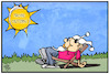 Cartoon: Schöne Ostern (small) by Kostas Koufogiorgos tagged karikatur,koufogiorgos,illustration,cartoon,ostern,wetter,feiertag,michel,sonne