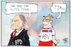 Cartoon: Scholz und der HSV (small) by Kostas Koufogiorgos tagged karikatur,koufogiorgos,illustration,cartoon,scholz,hsv,hamburg,fussball,bürgermeister,team,kabinett,sport,politik,finanzminister