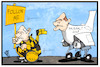 Cartoon: Schwarze Null (small) by Kostas Koufogiorgos tagged karikatur,koufogiorgos,illustration,cartoon,schäuble,scholz,follow,me,richtung,null,etat,haushalt,finanzminister