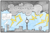 Cartoon: Sturm auf Berlin (small) by Kostas Koufogiorgos tagged karikatur,koufogiorgos,illustration,cartoon,sturm,berlin,demo,covidiot,corona,gewitter,querdenken