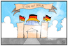 Cartoon: Sturm auf Berlin (small) by Kostas Koufogiorgos tagged karikatur,koufogiorgos,illustration,cartoon,berlin,reichstag,bundestag,hutbuerger,corona,demo