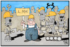 Cartoon: Tag der Arbeit 4.0 (small) by Kostas Koufogiorgos tagged karikatur,koufogiorgos,illustration,cartoon,tag,arbeit,demonstration,industrie,roboter,cobots,industrialisierung,feiertag