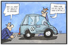 Cartoon: VW-Skandal (small) by Kostas Koufogiorgos tagged karikatur,koufogiorgos,illustration,cartoon,vw,auto,abgas,skandal,co2,test,automobilindustrie,wirtschaft,verbraucher,prüfer