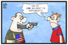 Cartoon: Waffengesetz USA (small) by Kostas Koufogiorgos tagged karikatur,koufogiorgos,illustration,cartoon,waffengesetz,waffen,usa,argument,schiesserei,orlando,recht,gewalt,kriminalität
