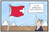 Cartoon: Wahl in der Schweiz (small) by Kostas Koufogiorgos tagged karikatur,koufogiorgos,illustration,cartoon,schweiz,fahne,flagge,rutsch,rechtsruck,parlamentswahl,wahl