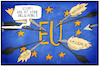 Cartoon: Zielscheibe Europa (small) by Kostas Koufogiorgos tagged karikatur,koufogiorgos,illustration,cartoon,zielscheibe,europa,terrorismus,spanien,italien,instabilität,handelskrieg,populismus,pfeile,angriff,eu
