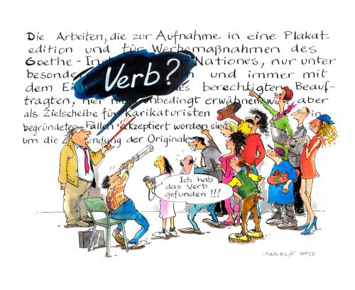 Cartoon: Die deutsche Sprache (medium) by Marlene Pohle tagged foreign,languages