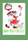 Cartoon: Happy New Year 2013 (small) by Marlene Pohle tagged greetings