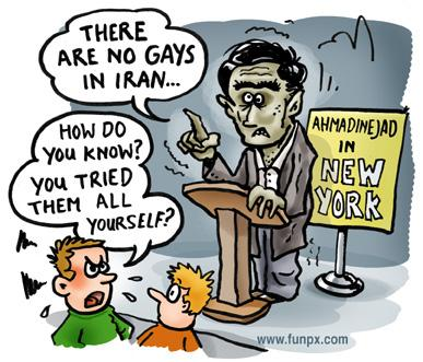 Cartoon about Ahmadinejad