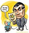 Cartoon: Do no evil (small) by illustrator tagged big brother google evil watching control cartoon satire welleman