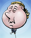 Cartoon: Geert Wilders retoric cartoon (small) by illustrator tagged balloon,geert,wilders,cartoon,hot,air,retoric,politics,politician,member,parliament,inflatable,dutch