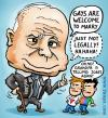 Cartoon: McCain policy towards gays (small) by illustrator tagged mccain,president,candidate,kandidaat,gay,marriage,schwul,heirat,legal,jokes,grandpa,cartoon,satire,welleman,cartoonist,politik,politics,homophobe,homofobe,