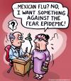 Cartoon: Mexican flu (small) by illustrator tagged flu,sick,ill,epidemic,mexican,doctor,patient,consult,medicine