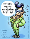 Cartoon: New Years Resolution 72 dpi (small) by illustrator tagged 2010,new,year,holiday,festive,season,resolution,72,dpi,greeting,plan,guy,card,wish