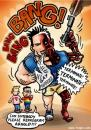Cartoon: Program Arnold (small) by illustrator tagged arnold schwarzenegger governer gay marriage terminator ban illustrator welleman heirat heiraten ehe comic character