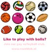 Cartoon: Wanna play with balls? (small) by illustrator tagged club gay sport ball team promo animation queer spiel mannschaft volleybal