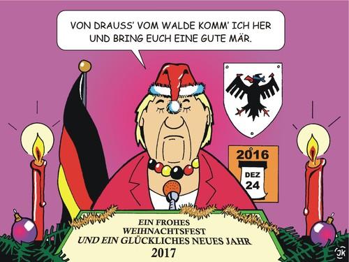 Comic Frohe Weihnachten.Frohe Weihnachten 2016 Von Jotka Religion Cartoon Toonpool